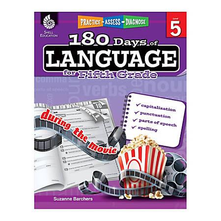 Shell Education 180 Days Of Language Workbook, Grade 5