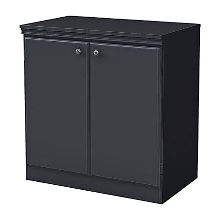 South Shore Furniture Morgan Storage Cabinet 2 Shelf Black