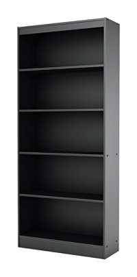 South Shore Axess 5 Shelf Bookcase Pure Black Item 1997173