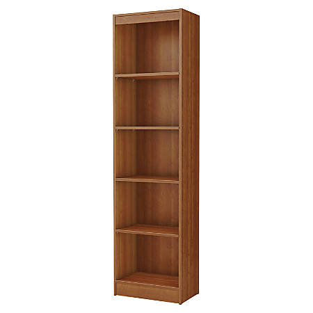 South Shore Axess 5-Shelf Narrow Bookcase, Morgan Cherry