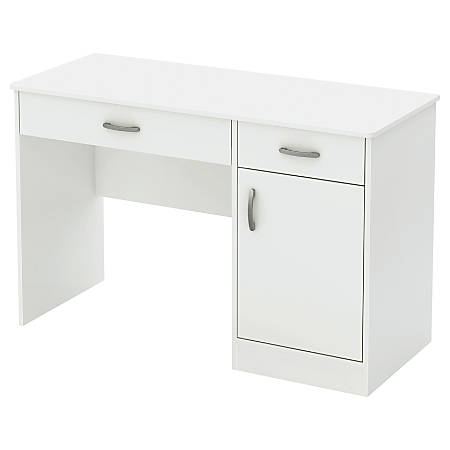 South Shore Axess Small Desk With Storage, Pure White