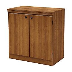 South Shore Morgan 2-Door Storage Cabinet, Morgan Cherry