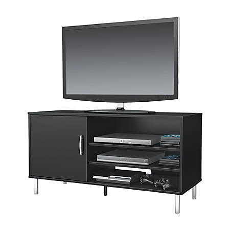 """South Shore Renta TV Stand For TVs Up To 48"""", Pure Black"""