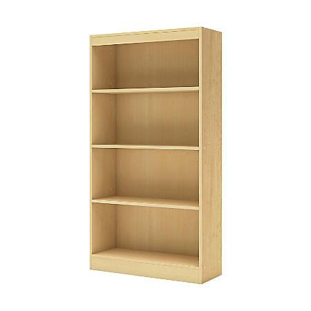 South Shore Axess 4-Shelf Bookcase, Natural Maple