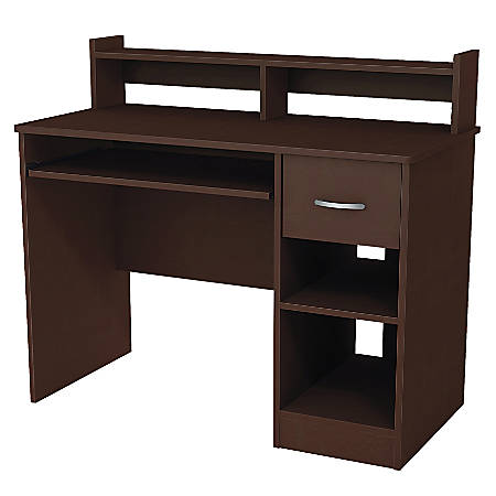 South Shore Axess Desk With Keyboard Tray and Hutch, Chocolate