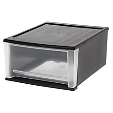 Iris Stackable Drawer Letter Size ClearBlack