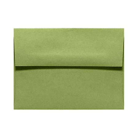 """LUX Invitation Envelopes With Moisture Closure, A6, 4 3/4"""" x 6 1/2"""", Avocado Green, Pack Of 50"""