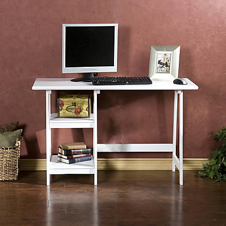 Southern Enterprises Langston Fiberboard Desk, White
