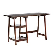 Southern Enterprises Langston Straight Desk Espresso