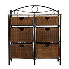 Southern Enterprises IronWicker Storage Chest Rectangle