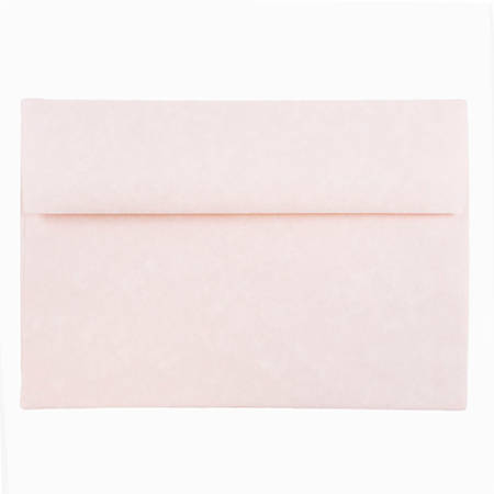 "JAM Paper® Booklet Invitation Envelopes (Recycled), A8, 5 1/2"" x 8 1/8"", 30% Recycled, Pink Ice, Pack Of 25"