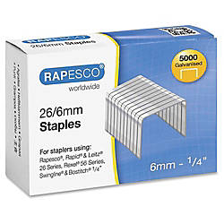 Rapesco 266mm Galvanized Staples 266mm 5000