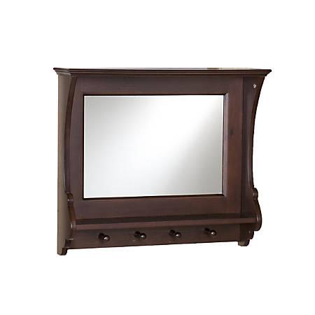 """Southern Enterprises Chelmsford Entry Mirror, 21""""H x 24""""W x 6""""D, Brown"""