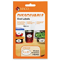 MACO Dissolvable Labels MACM83403 1 12