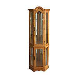 Southern Enterprises Lighted Corner Curio Cabinet