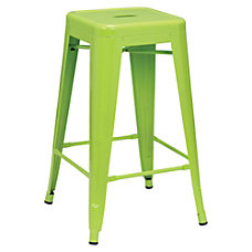 Lorell Metal Stool 26 H Lime