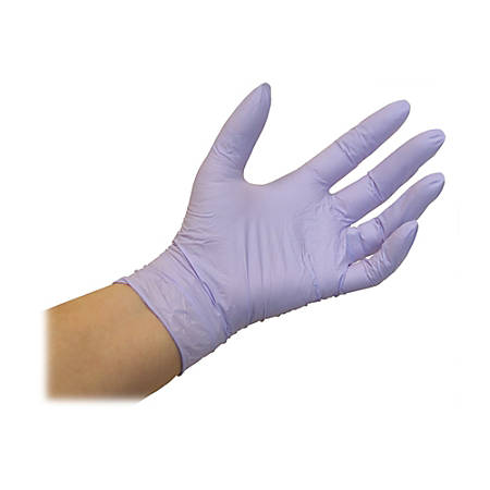Kimberly-Clark Lavender Nitrile Exam Gloves, X-Large, Box Of 250