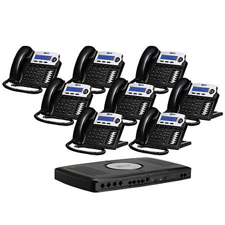 XBLUE Networks X16 Corded Telephone Bundle, Charcoal, Set of 8