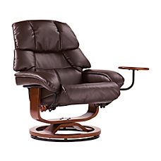 Southern Enterprises Congressional Leather Recliner And