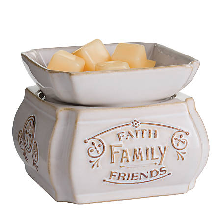 Candle Warmers Etc 2-In-1 Classic Fragrance Warmer, Faith Family Friends