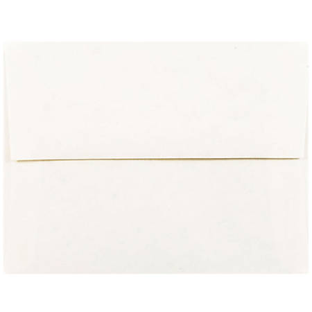 "JAM Paper® Booklet Invitation Envelopes (Recycled), A2, 4 3/8"" x 5 3/4"", 30% Recycled, White, Pack Of 25"