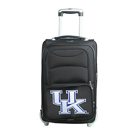 "Denco Sports Luggage NCAA Expandable Rolling Carry-On, 20 1/2"" x 12 1/2"" x 8"", Kentucky Wildcats, Black"