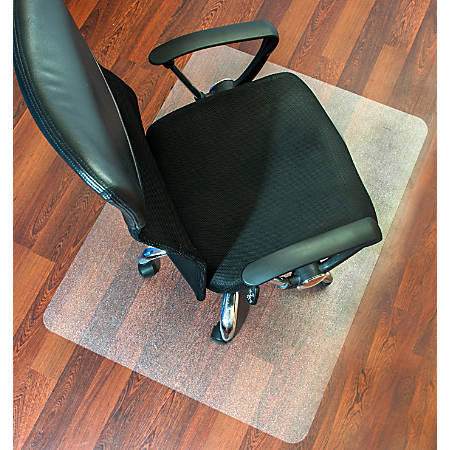 "Mammoth Polycarbonate Hard Floor Chair Mat, Rectangular, 36"" x 48"", Clear"