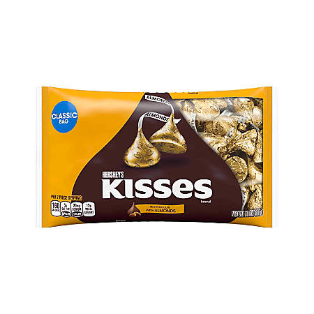 Hershey's® KISSES Milk Chocolate With Almonds, 11 Oz, Pack Of 3 Bags