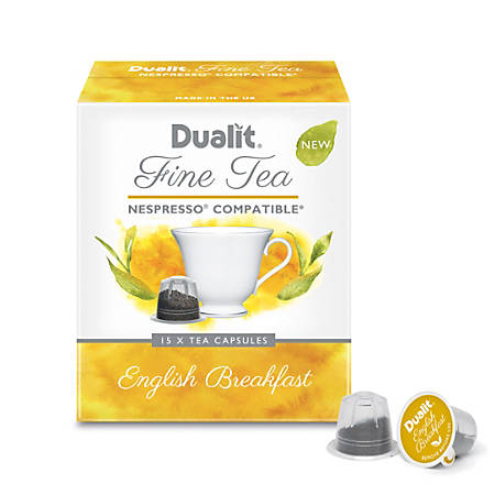 Dualit And Nespresso®* Compatible Fine Tea NX Capsules, English Breakfast, 2.2 Grams, Pack Of 75