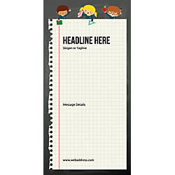 Custom Vertical Display Banner Notebook