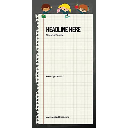 Custom Vertical Display Banner, Notebook
