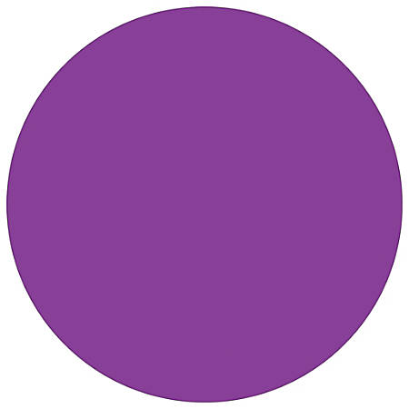 """Tape Logic® Inventory Circle Labels, DL690M, 1/2"""", Purple, Pack Of 500"""