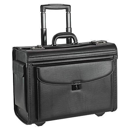 Lorell® Rolling Laptop Catalog Case, Black