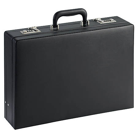 "Lorell® Expandable Attache Case, 12 1/2""H x 17 1/2""W x 4""D, Black"