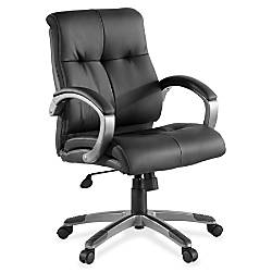 Lorell Managerial Bonded Leather Swivel Chair