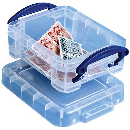 Really Useful Box® Plastic Storage Box, 0.07 Liter, Clear