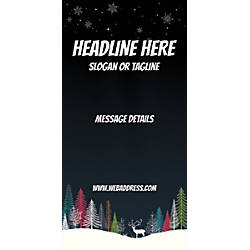 Custom Vertical Banner Dark Snow Night