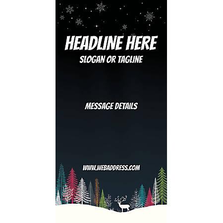 Custom Vertical Banner, Dark Snow Night