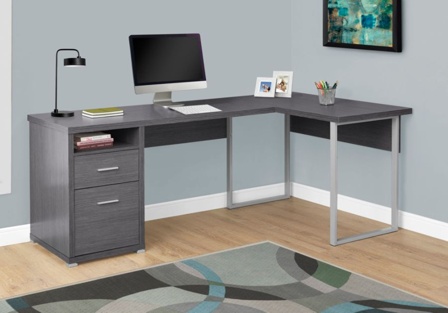 Monarch Specialties L Shaped Particleboard Computer Desk With 2