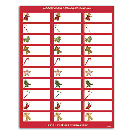 "Great Papers!® Holiday Address Labels, 2011600, 2 5/8"" x 1"", Ginger Friends, Pack Of 150"