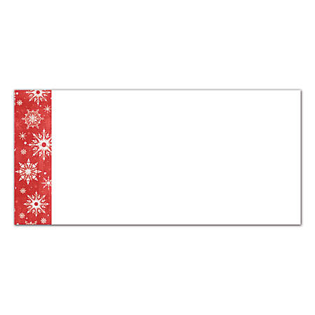 "Great Papers!® Holiday Envelopes, Blue Flakes, #10, 4 1/8"" x 9 1/2"", Pack Of 40"