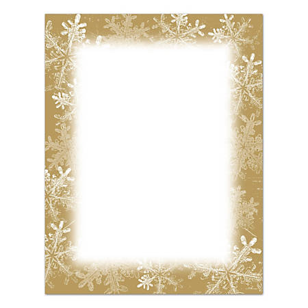 """Great Papers!® Holiday Stationary, 8 1/2"""" x 11"""", Frosted Holiday Wishes, Pack Of 250 Sheets"""