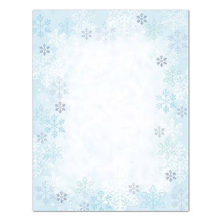 "Great Papers!® Blue Flakes Letterhead Paper, 8 1/2"" x 11"", Pack Of 80"