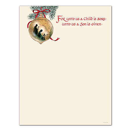 "Great Papers!® Holiday-Themed Letterhead Paper, 8 1/2"" x 11"", Holy Family, Pack Of 80 Sheets"