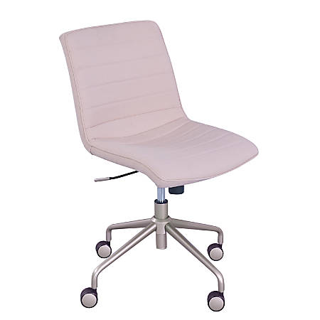 Elle Décor Adelaide Mid-Back Task Chair, Pink/Rose Gold