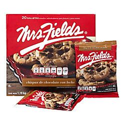 Mrs. Fields Milk Chocolate Chip Cookies, 2.1 Oz, Box Of 20 Cookies