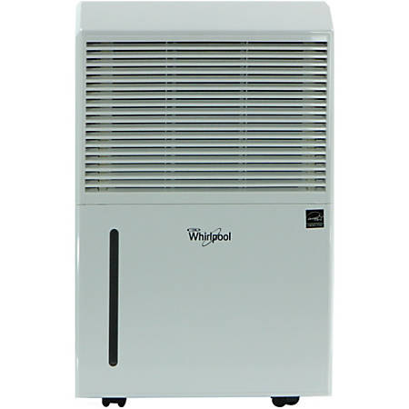 "Whirlpool Energy Star Portable Dehumidifier, Portable Room, 50 Pint, 23 1/2""H x 15 5/16""W x 11 1/2""D"