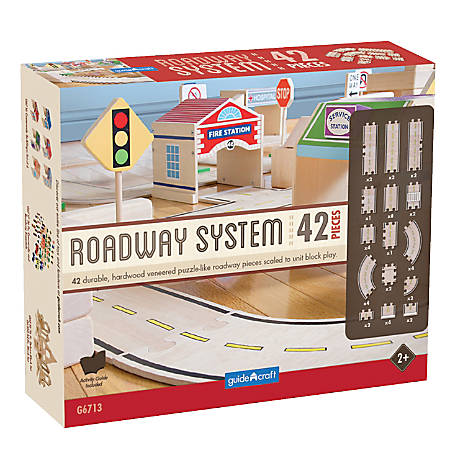 Guidecraft USA Roadway System, Grades Pre-K - 3
