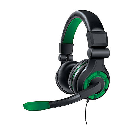 DreamGear Xbox One Wired Gaming Headset, Green, GRX-340