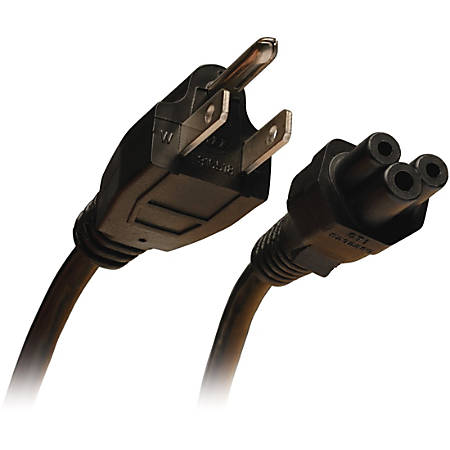 Tripp Lite 10ft Laptop / Notebook Power Cord Cable 5-15P to C5 10A 18AWG 10'